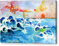 Evening Tide Acrylic Print by Ginette Callaway