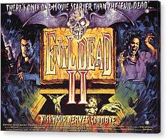 Evil Dead II, Left, Bruce Campbell Acrylic Print by Everett