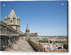Evora View From Rooftop Of Cathedral Evora, Acrylic Print by Stefan Cioata