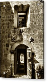 Exit From The Cemetery Acrylic Print by Steven Ainsworth