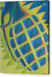 Explosion Of Color Acrylic Print by Landon Clary
