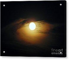 Eye Moon Acrylic Print by Mariana Robu
