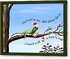Ezekiels Christmas Acrylic Print by Susan Kinney