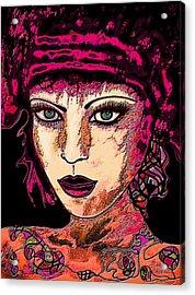 Face 13 Acrylic Print by Natalie Holland