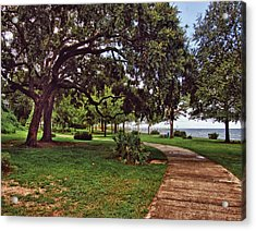 Fairhope Lower Park 2 Acrylic Print by Michael Thomas