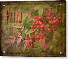 Faith Spring Berries Acrylic Print by Cindy Wright