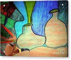 Fake Pipe Acrylic Print by Fania Simon