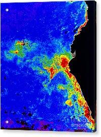 Fal-col Satellite Image Of Coastal Acrylic Print by Dr. Gene Feldman, NASA Goddard Space Flight Center