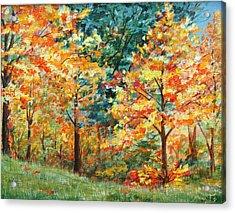 Fall Foliage Acrylic Print by AnnaJo Vahle