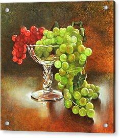 Fall Grapes Acrylic Print by Cynthia Peterson