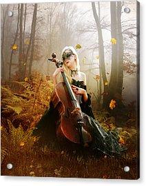 Fall Melody Acrylic Print by Mary Hood