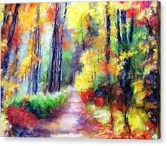 Fall Melody Acrylic Print by Marilyn Sholin