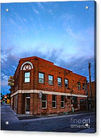 Fallon Nevada Building Acrylic Print by Gregory Dyer