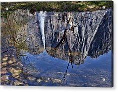 Falls Pool Reflection Acrylic Print by Garry Gay