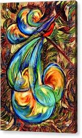 Fanciful Bird Acrylic Print by Judi Quelland