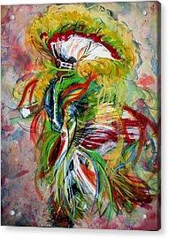 fancy Dancer II Acrylic Print by Christine Chzasz