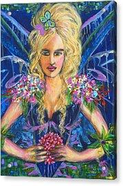 Fantashia Fae Acrylic Print by Kimberly Van Rossum