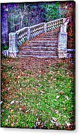 Fantasy Stairway Acrylic Print by Olivier Le Queinec
