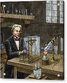 Faraday's Electrolysis Experiment, 1833 Acrylic Print by Sheila Terry