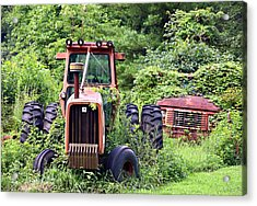 Farm Equipment Acrylic Print by Susan Leggett