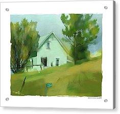 Farm House In Lucknow Ontario Acrylic Print by Bob Salo