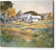 Farm On Denman Island Acrylic Print by Grant Fuller