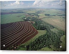 Farming Region With Forest Remnants Acrylic Print by Claus Meyer