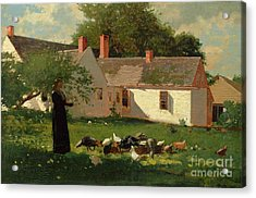 Farmyard Scene Acrylic Print by Winslow Homer