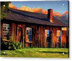 Farrier's Shed Acrylic Print by Suni Roveto