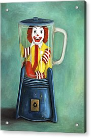 Fast Food Nightmare 2 The Happy Meal Acrylic Print by Leah Saulnier The Painting Maniac