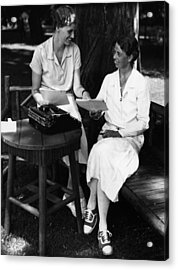 Fdr Presidency. Daughter Of First Lady Acrylic Print by Everett