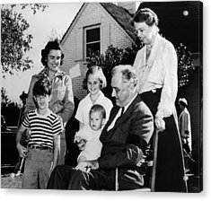 Fdr Presidency. Front Row, From Left Acrylic Print by Everett