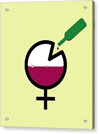 Female Binge Drinking, Conceptual Image Acrylic Print by Stephen Wood