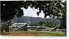 Fence At Appomattox Acrylic Print by Teresa Mucha