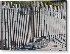Fence Patterns II Acrylic Print by Andrea Simon