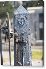 Fence Post Acrylic Print by Renee Barnes
