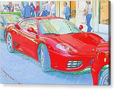 Ferrari In Rome Acrylic Print by Don Fleming