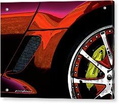 Ferrari Wheel Detail Acrylic Print by Douglas Pittman