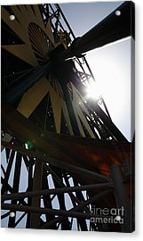 Ferris Wheel - 5d17616 Acrylic Print by Wingsdomain Art and Photography