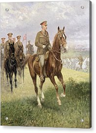 Field Marshal Haig Acrylic Print by Jan van Chelminski