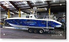 Fine Art Boat Wraps Acrylic Print by Carey Chen