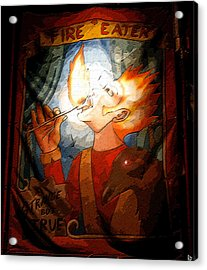 Fire Eater Acrylic Print by David Lee Thompson