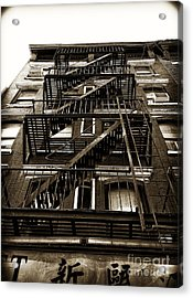 Fire Escape Acrylic Print by Thanh Tran
