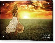 Fire In The Sky Acrylic Print by Cindy Singleton