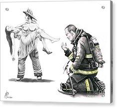 Fire Rescue Acrylic Print by Murphy Elliott