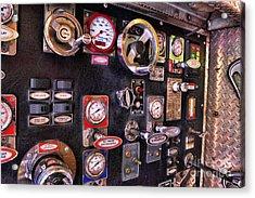 Fireman - Discharge Panel Acrylic Print by Paul Ward