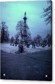 Firemans Monument Infrared Acrylic Print by Joshua House