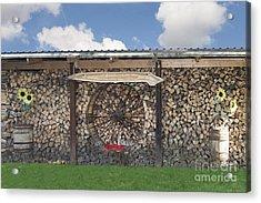 Firewood Art Acrylic Print by Jaak Nilson