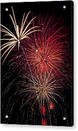 Fireworks Acrylic Print by Garry Gay