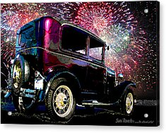 Fireworks In The Ford Acrylic Print by Suni Roveto